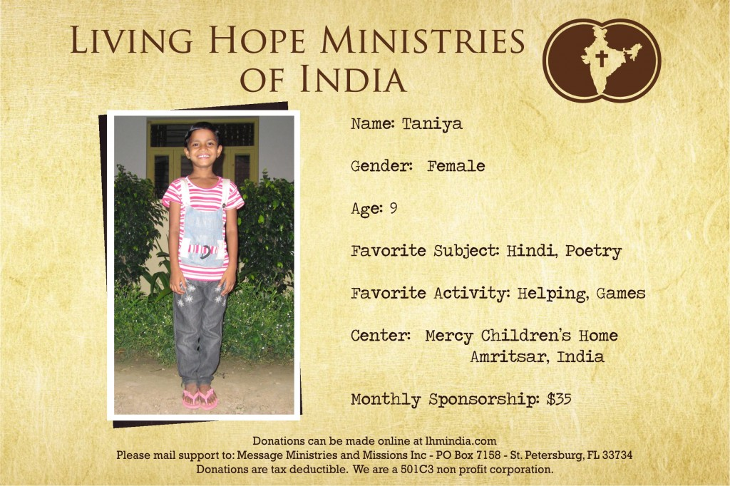 Child Sponsor - India - Vansh